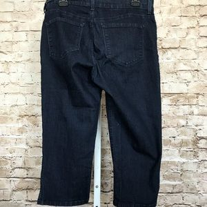 NYDJ Denim Cropped Jeans Sz 12 Sequined Cuffs